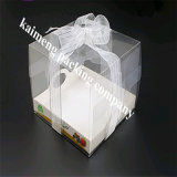 Animal de estimação profissional do espaço livre da fonte da fábrica que dobra a caixa de bolo plástica com projeto de pacote do presente (caixa de bolo)