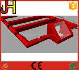 Neuer Entwurfs-roter aufblasbarer Fußballplatz für Sport-Spiel