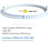 12W amincissent autour de la lumière en aluminium de coulage sous pression d'intérieur de corps de lampe de la température de couleur de lumières d'éclairage de la Chambre DEL de la lampe AC85-265V de plafond de panneau de DEL (2700-6500K)