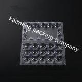 Bandejas de alimentos plásticas transparentes transparentes e quentes para o pacote de ovos de codorna 15 células (bandeja de alimentos plástica)