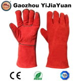 Длинние кожаный перчатки заварки при Кевлар для Welders