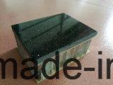 黒い大理石の石造りの合成物はガラス繊維の蜜蜂の巣によって焼かれるパネルにパネルをはめる