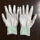 Перчатки PU ладони Cleanroom Coated анти- статические