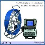 Diameter 11mm Pushrod van de Kabel van de Glasvezel de Camera van het Riool met PanSchuine stand roteert het Hoofd van de Camera