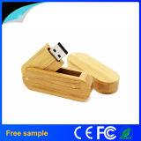 회전대 나무로 되는 8GB Pendrive를 인쇄하는 중국 Manufacter 도매 자유로운 로고