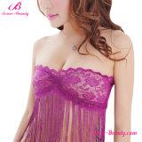 Женское бельё Babydoll оптового пурпурового Chemise края пробки сексуальное