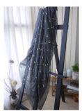 Dunkler grauer großer heißer stempelnder Schal in Polyeste/in der Viskose (HWBPS809)