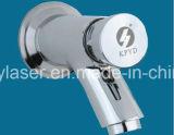 Metalllaser-Markierungs-Maschine auf Aluminiumlegierung-Gefäß mit Firmenzeichen und Zeichen