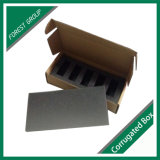 Schwarzer Firmenzeichen-Packpapier-Kasten mit Schaumgummi-Einlage