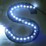 S Forma de 6 mm 2835 SMD 60 LED tira flexible del LED