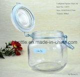 Frasco de vidro com tampão do grampo