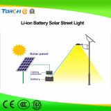 40W Qualidade LED Solar Street Light Fabricante MPPT Li-ion Battery Fast Charging