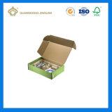 Rectángulo acanalado reciclable impreso insignia de encargo del cartón (rectángulo de envío del cartón)