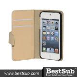Новое прибытие в случаи бумажника iPhone 5/5s/Se золотистые (IP5K31G)