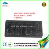 Muestra del cambiador del precio de la gasolina de 6 pulgadas LED (NL-TT15SF9-10-3R-White)