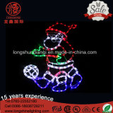 LED Santa Clus Riding Bike et Moteur Lumière de corde de Noël pour la décoration de lumière extérieure.