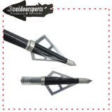 Black Color High Quality Material Arrow Tips Lâminas Fixas Broadhead para Archery Hunting Game