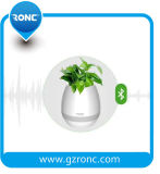 Bluetooth 스피커와 LED 빛을%s 가진 지능적인 접촉 음악 화분