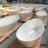 Vasca da bagno di superficie solida della resina di pietra moderna calda di vendita
