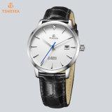 Het hete Verkopende Dunne Horloge van het Geval, het Waterdichte Horloge van het Roestvrij staal 5ATM, Toevallig Automatisch Horloge 72786