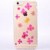 Tampa traseira protetora pressionada floral transparente para o iPhone 7