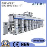Gwasy-B1 tres impresora de velocidad mediana del fotograbado del color del motor 8 para la película plástica