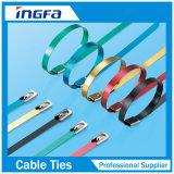 Ataduras de cables coloreadas del acero inoxidable con la capa
