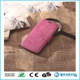Rétro cas en cuir de chiquenaude de pochette pour l'iPhone 8