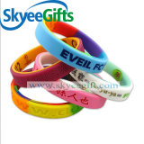 Wristband passen billig gravierte Silikon-Armbänder an