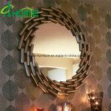 ヨーロッパ式の世帯の鉄円形ミラーの壁の装飾のクラフトのこつミラー