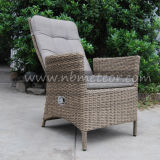 Mtc242柳細工のテラスの藤の椅子セットを食事する屋外の庭の家具Reclinable