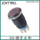 Acier IP67 électrique sur outre du commutateur de bouton poussoir