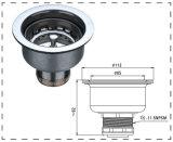 Filtro da cesta do dissipador do filtro do dreno de dissipador da cozinha do aço inoxidável para a bacia (WF1002)