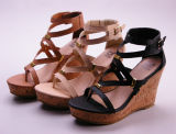 sandal Shoes 쐐기(wedge) 발뒤꿈치 숙녀