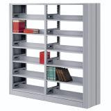 El doble del estante de la biblioteca echa a un lado solo poste