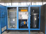 Compresseur d'air rotatoire contrôlé injecté par pétrole de vis d'inverseur (KF160-13INV)