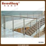 Польская конструкция поручня лестницы зеркала нержавеющей стали волосяного покрова