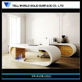 Mobília de escritório comercial de Corian, mesa de escritório do quarto do presidente ajustada (TW-PATB-133 (2))
