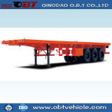 3 차축 40FT 45FT Container Chassis Flatbed Lowbed Semi Trailer