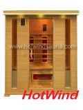 Sauna en bois portatif de pièce de sauna de l'infrarouge 2016 lointain pour 4 personnes (SEK-DP4)