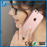 Crystal desobstruído Rubber Plating TPU Soft Phone Argumento Cover para o iPhone 6/6s