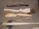 نسخة آليّة خشبيّة يرمّل معدّ آليّ مخرطة لأنّ خشبيّة مقبض يجعل
