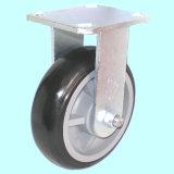Schwenker PU-Fußrolle mit seitlicher Bremse (Schwarzes)