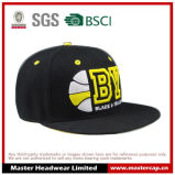 O chapéu preto do Snapback com 3D borda o logotipo