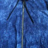 Il panno morbido di modo Chiude con chiusura a lampo-in su i vestiti di Hoodies di sport del denim dell'uomo nell'usura Fw-8664 di sport di Audlt