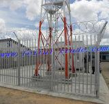 Гальванизированный Palisade ограждая на башня 15m x 15m телекоммуникаций