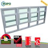 現代家UPVCのプラスチック鋼鉄二重ハングさせたガラス窓