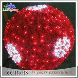 2017 esfera ao ar livre do motivo do floco de neve 3D da decoração do Natal do diodo emissor de luz do feriado