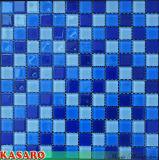 Tegel van het Mozaïek van het Glas van het Kristal van het Zwembad de Blauwe (ksl-131043)