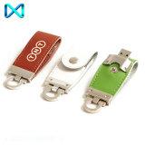 De Aandrijving van de Flits van Keychain USB van het Leer van de Douane van de vlinder